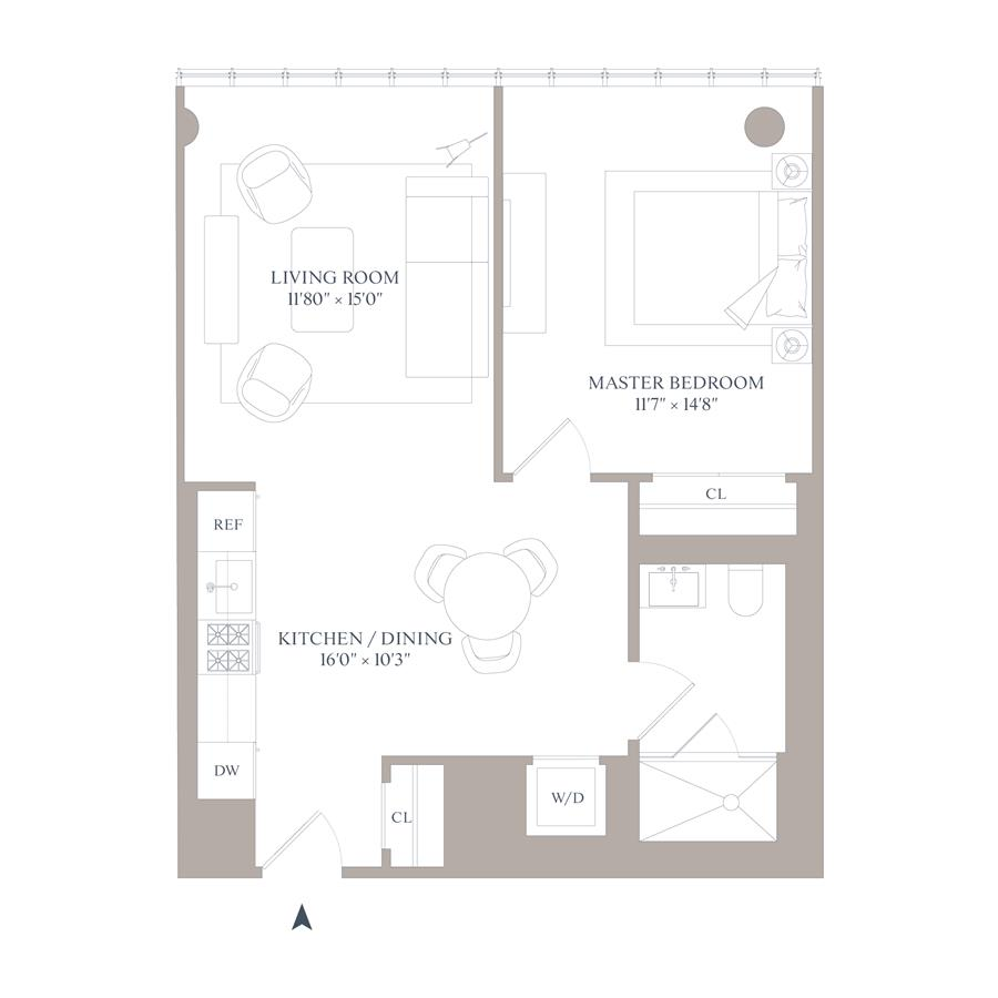 Floor plan of 565 Broome St, N5E - SoHo - Nolita, New York