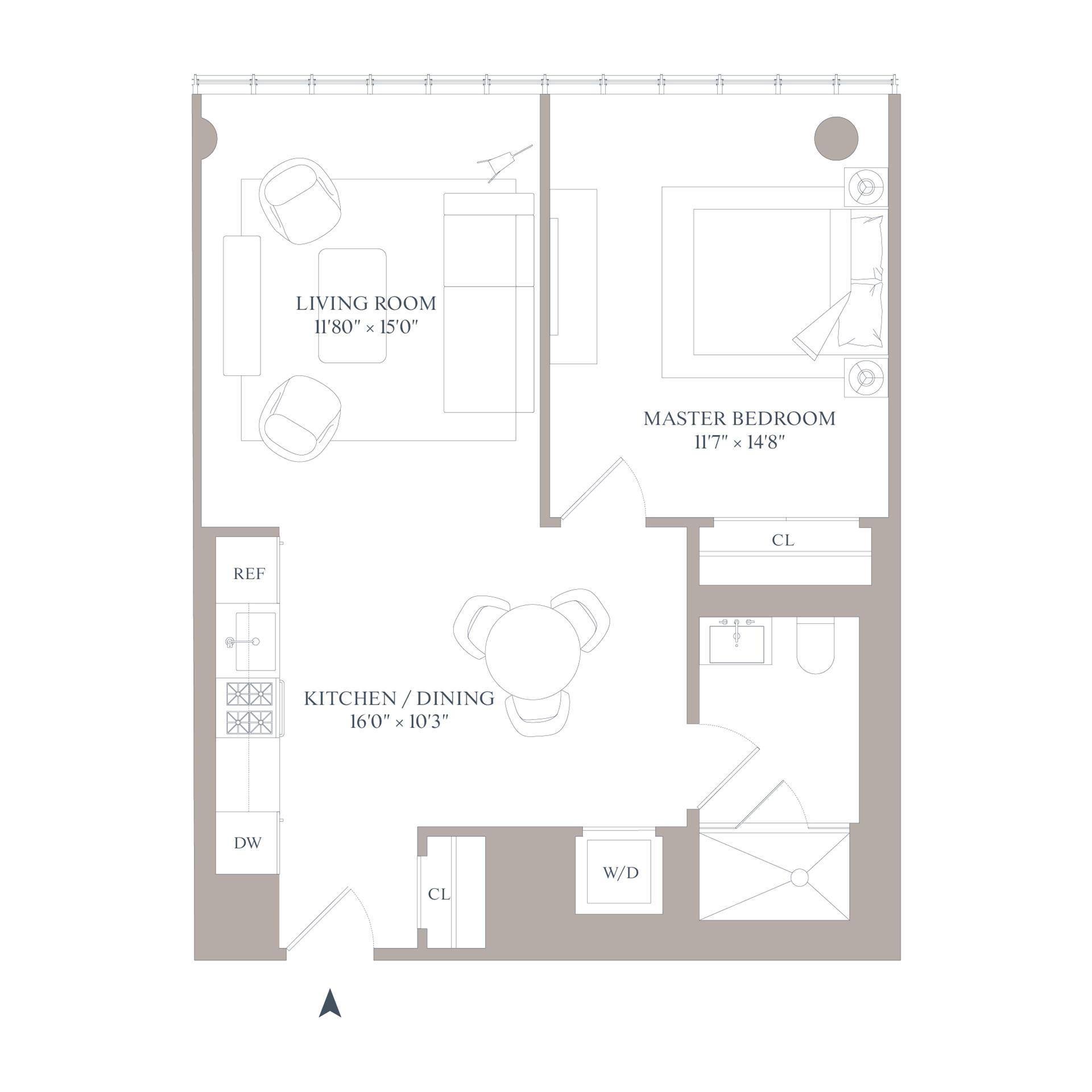 Floor plan of 565 Broome Street, N5E - SoHo - Nolita, New York