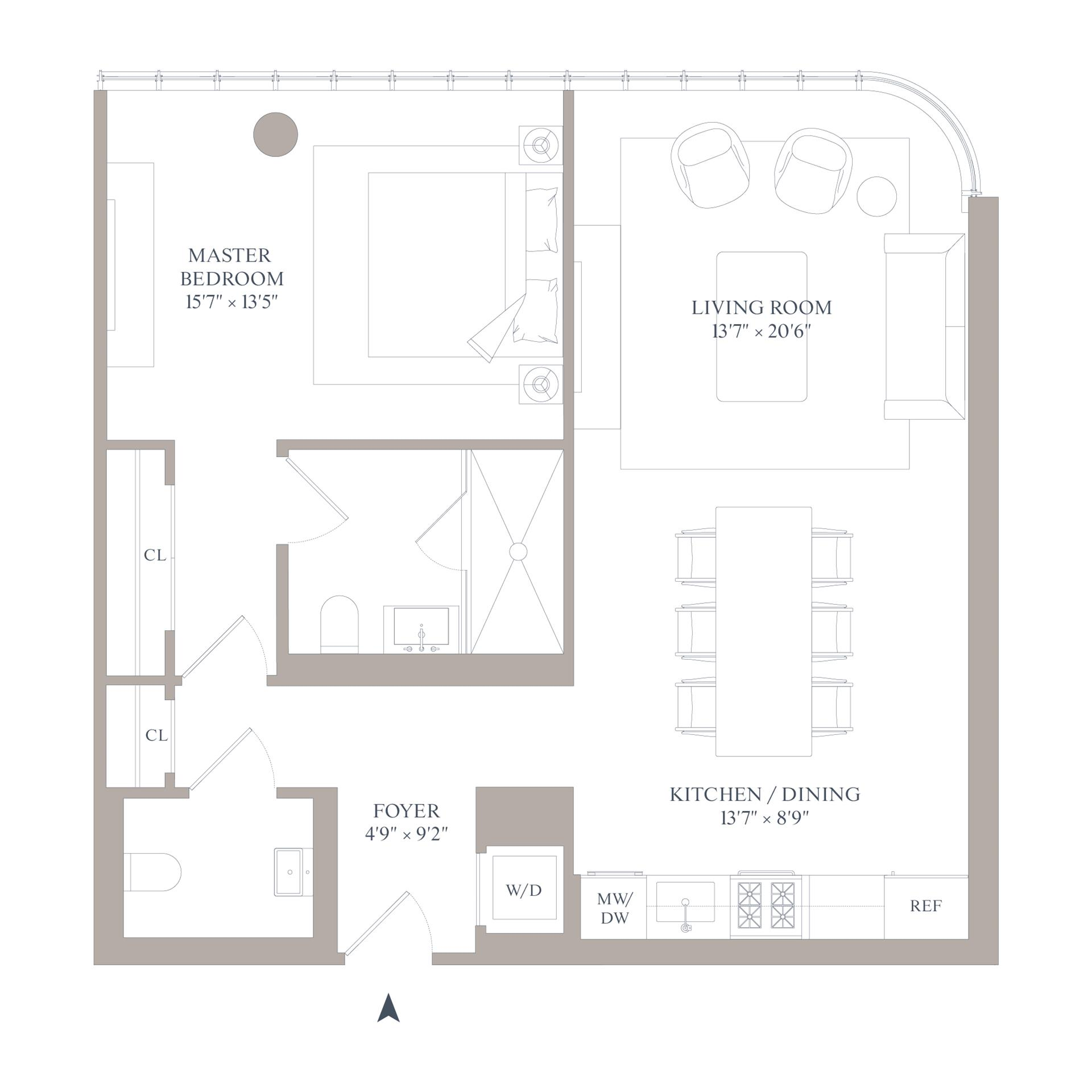 Floor plan of 565 Broome St, N8D - SoHo - Nolita, New York