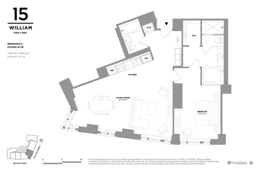 Floor plan of 15 William, 15 William St, 44K - Financial District, New York