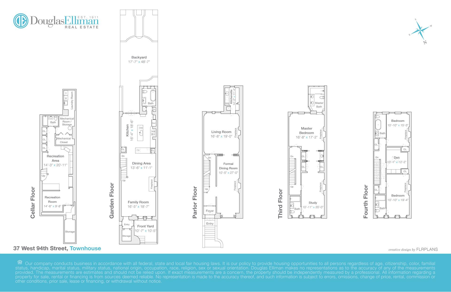 Floor plan of 37 West 94th St - Upper West Side, New York