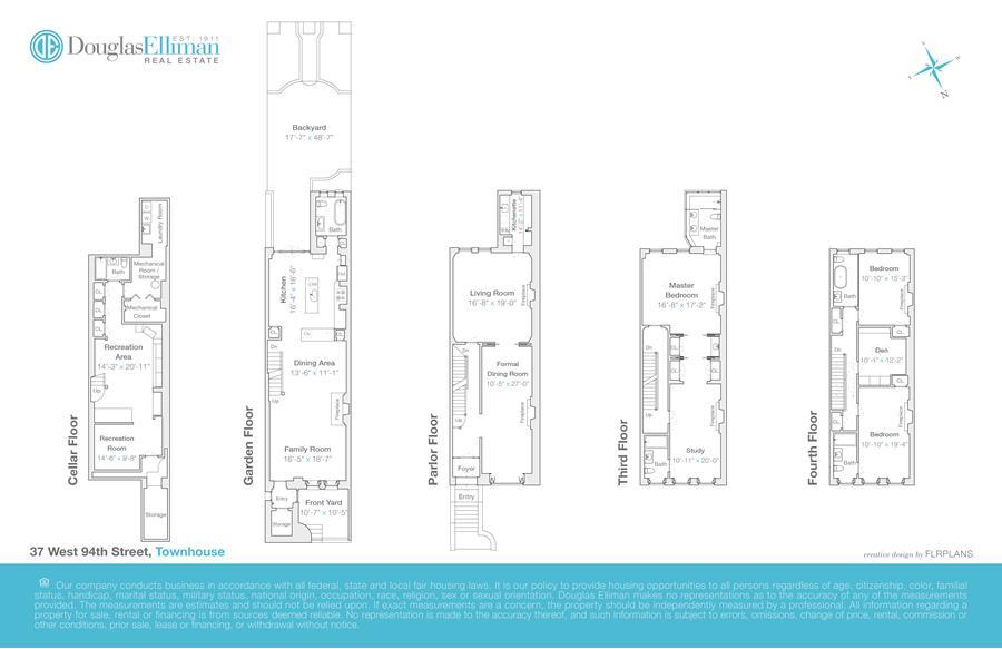 Floor plan of 37 West 94th Street - Upper West Side, New York