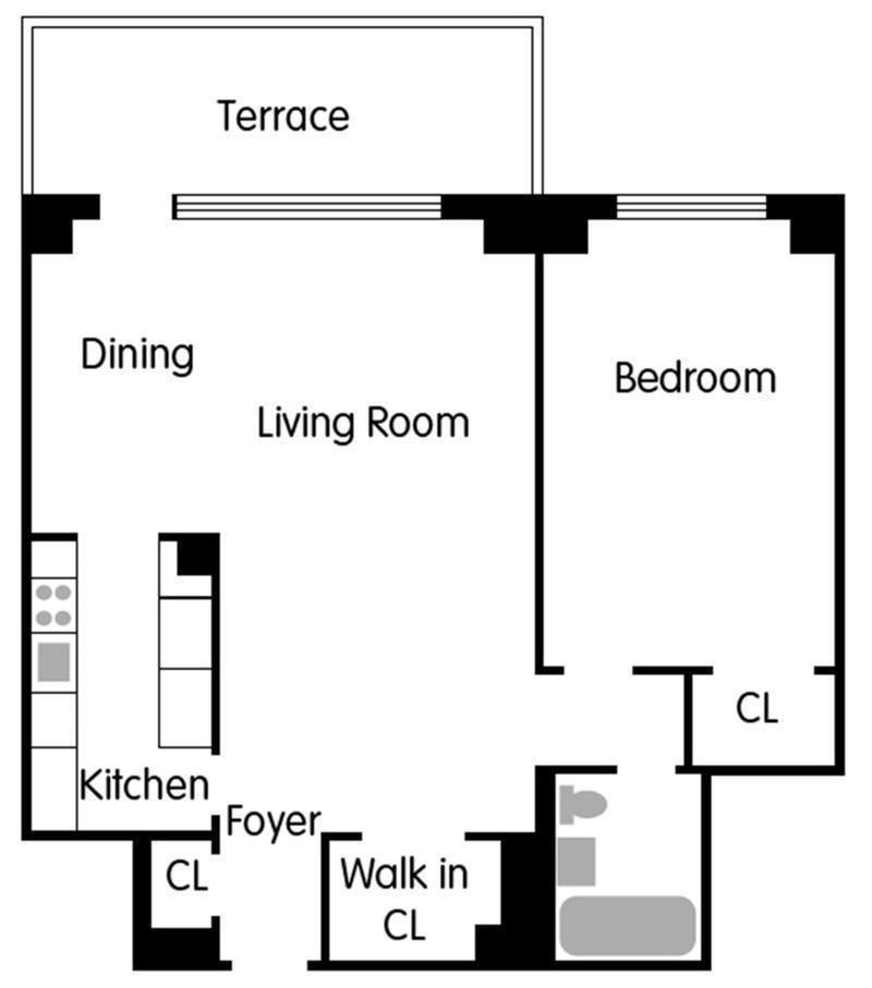 Floor plan of The Vaux, 372 Central Park West, 10M - Upper West Side, New York