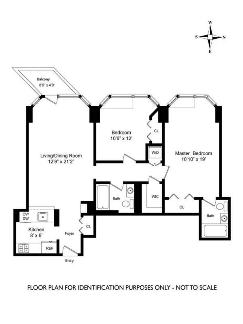 Floor plan of THE FUTURE, 200 East 32nd Street, 13C - Kips Bay, New York