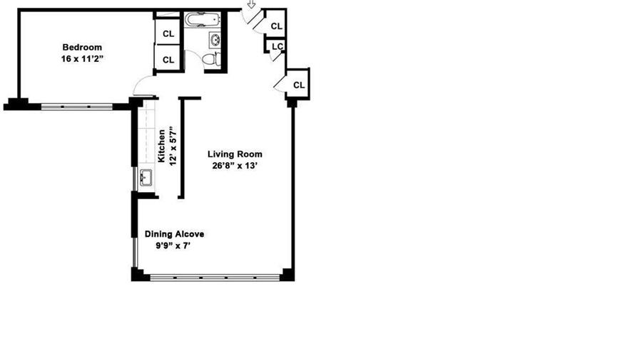 Floor plan of 233 East 69th St, 15K - Upper East Side, New York