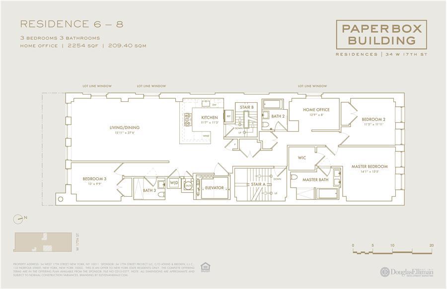 Floor plan of 34 West 17th St, 7 - Flatiron District, New York