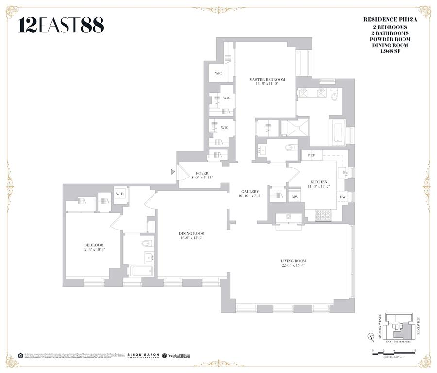 Floor plan of 12 East 88th St, PHA - Carnegie Hill, New York