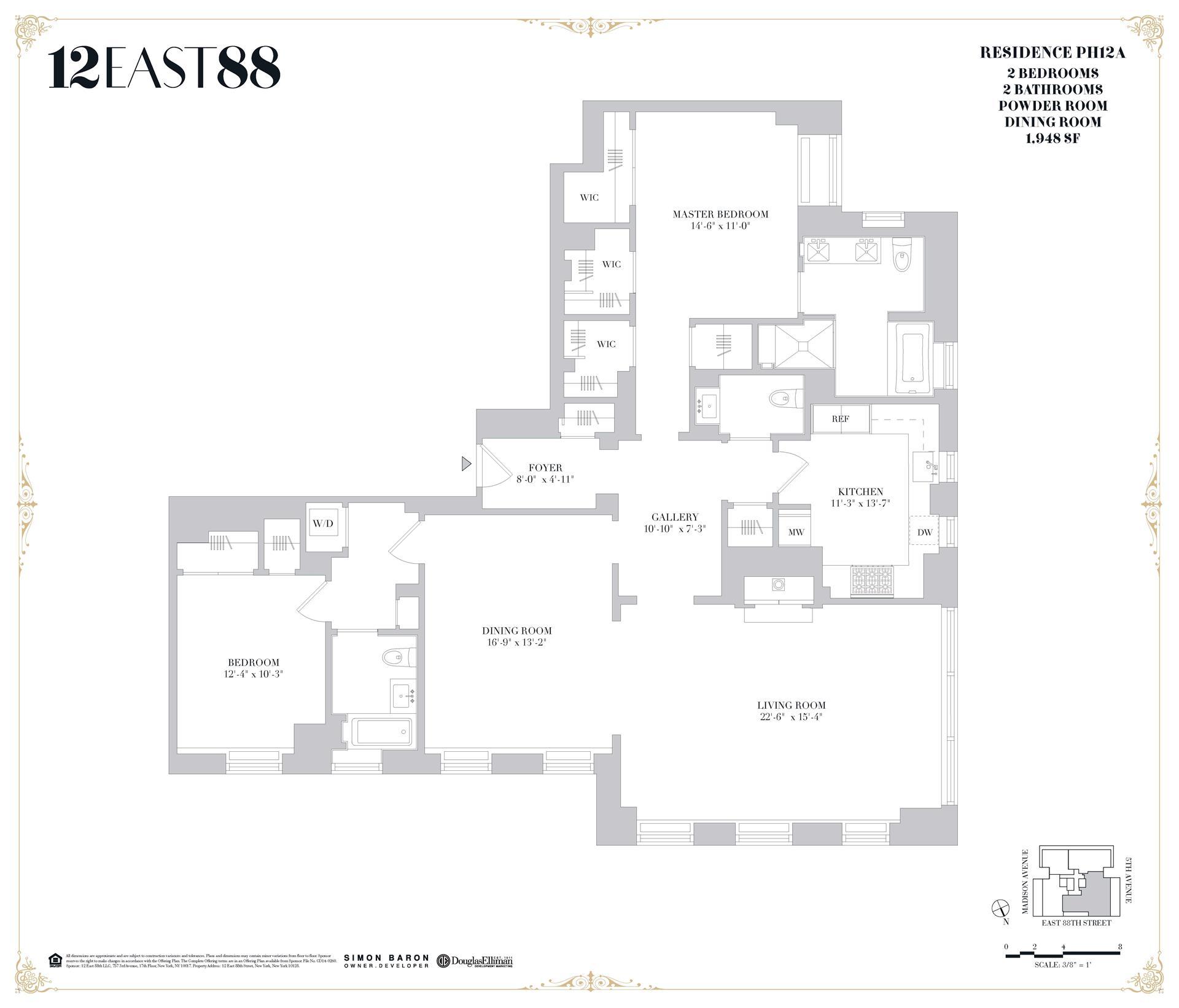 Floor plan of 12 East 88th St, PHA - Carnegie Hill, New York