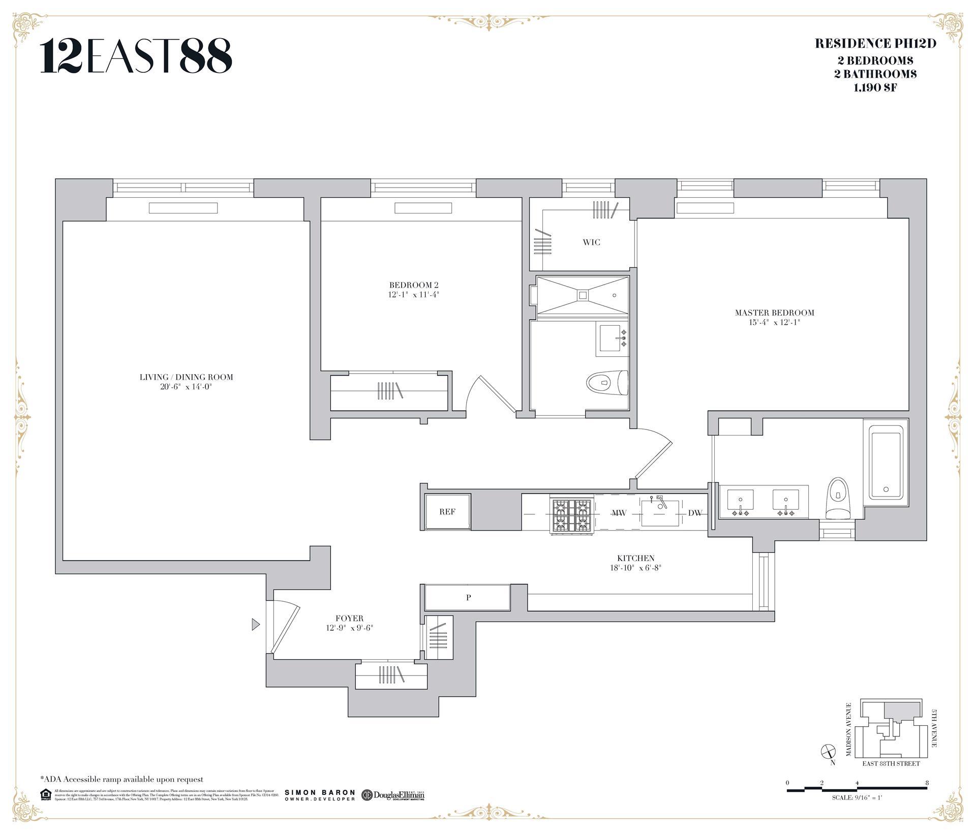 Floor plan of 12 East 88th St, PHD - Carnegie Hill, New York