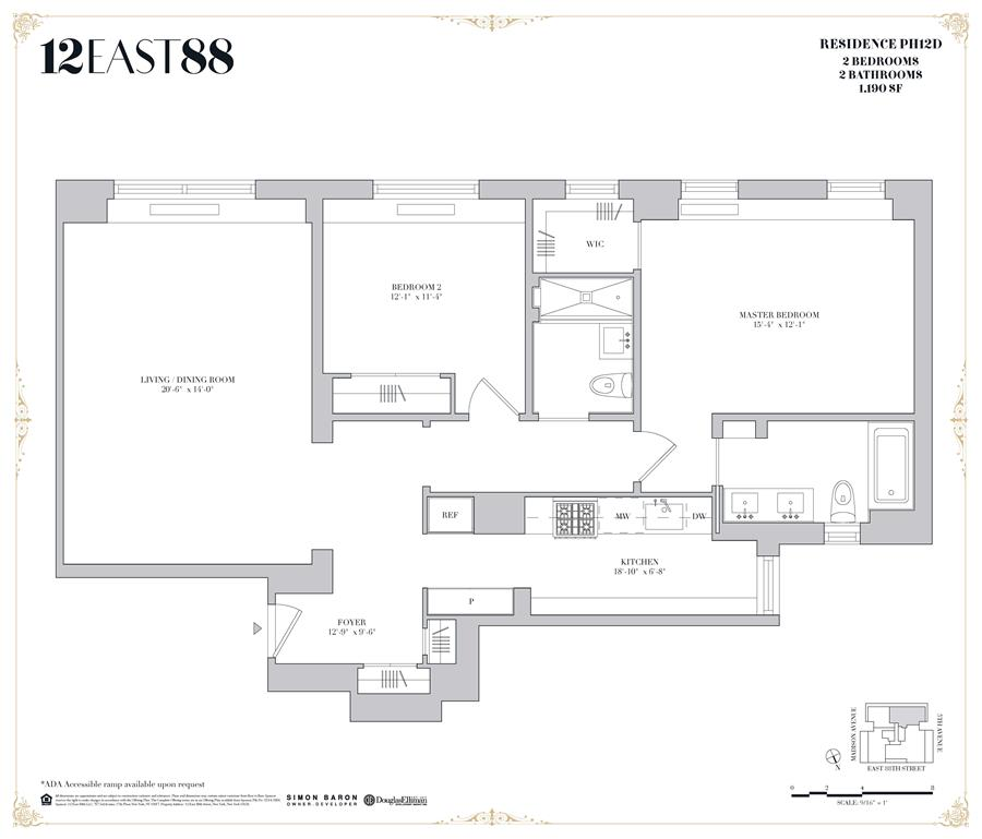Floor plan of 12 East 88th St, PHD - Carnegie Hill, New York