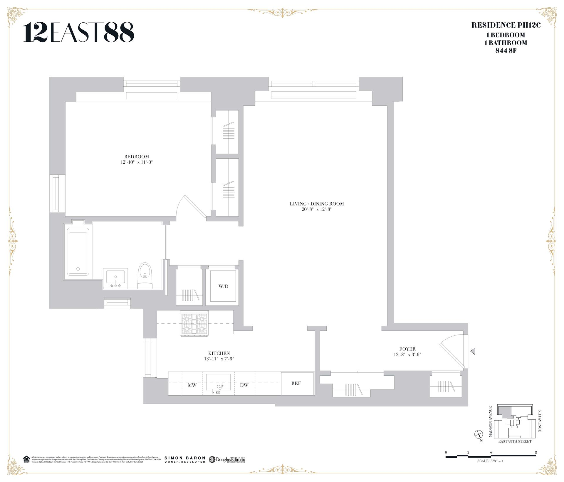 Floor plan of 12 East 88th St, PHC - Carnegie Hill, New York