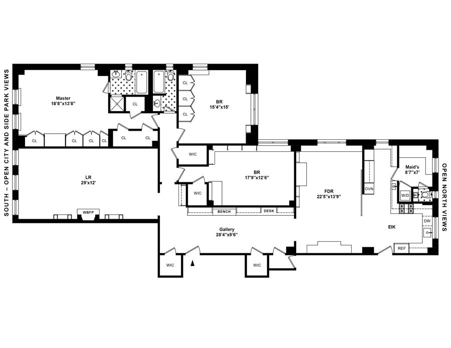 Floor plan of 7 West 81st St, 10A - Upper West Side, New York