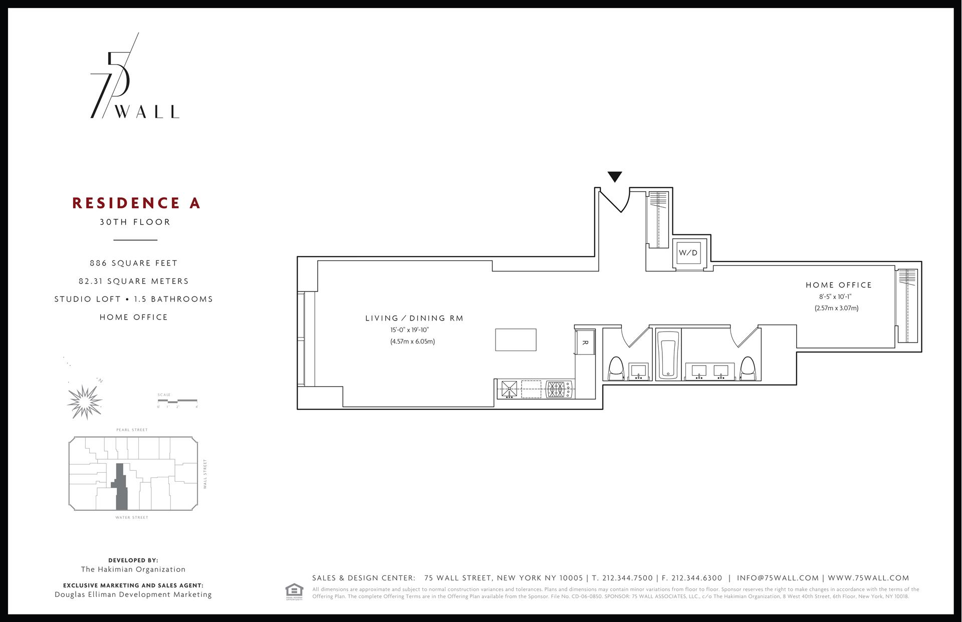 Floor plan of 75 Wall St, 30A - Financial District, New York