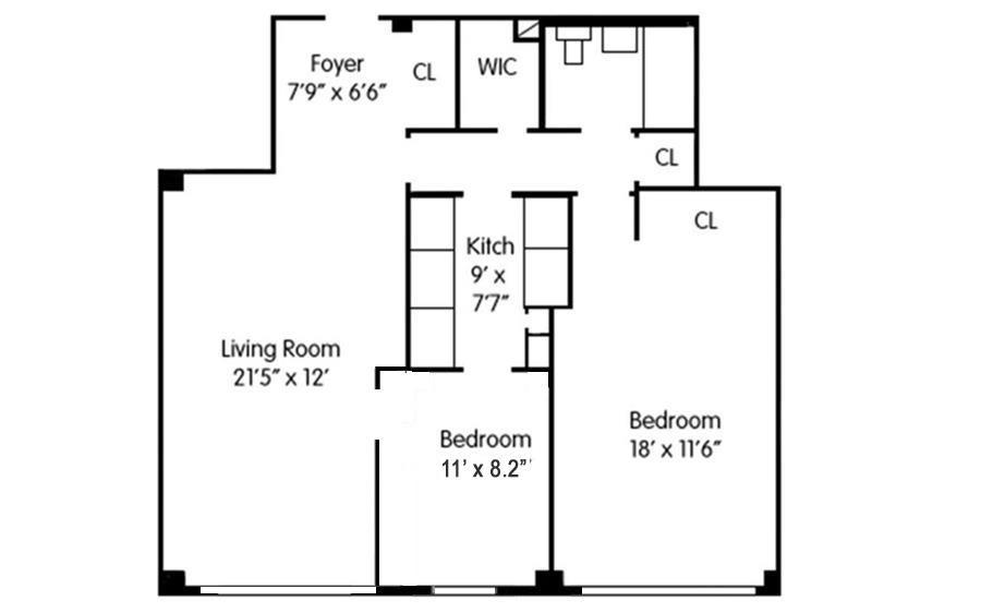 Floor plan of The Caravelle, 445 East 86th St, 13I - Upper East Side, New York