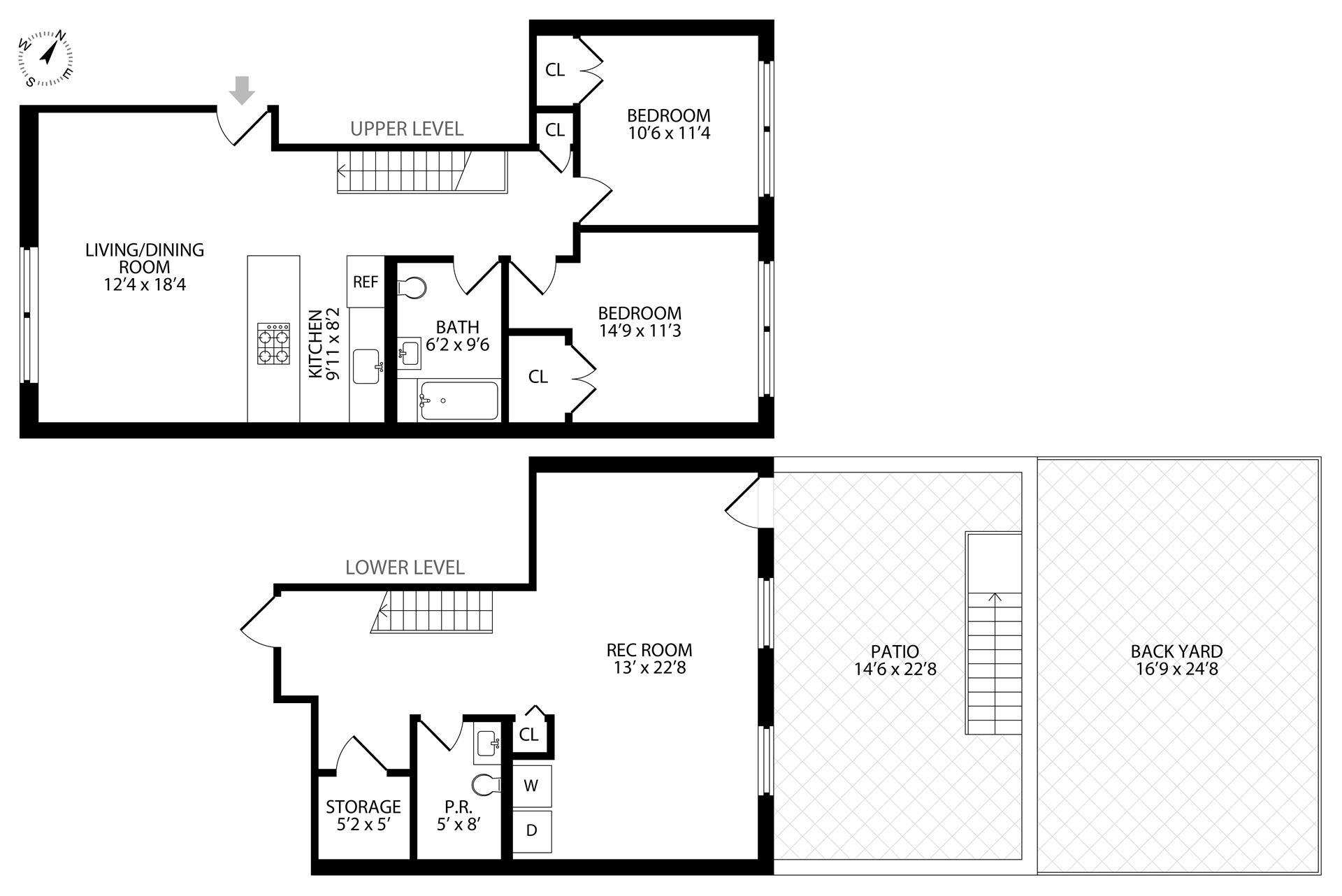 Floor plan of 3 Ridgewood Pl, 1 - Bushwick, New York