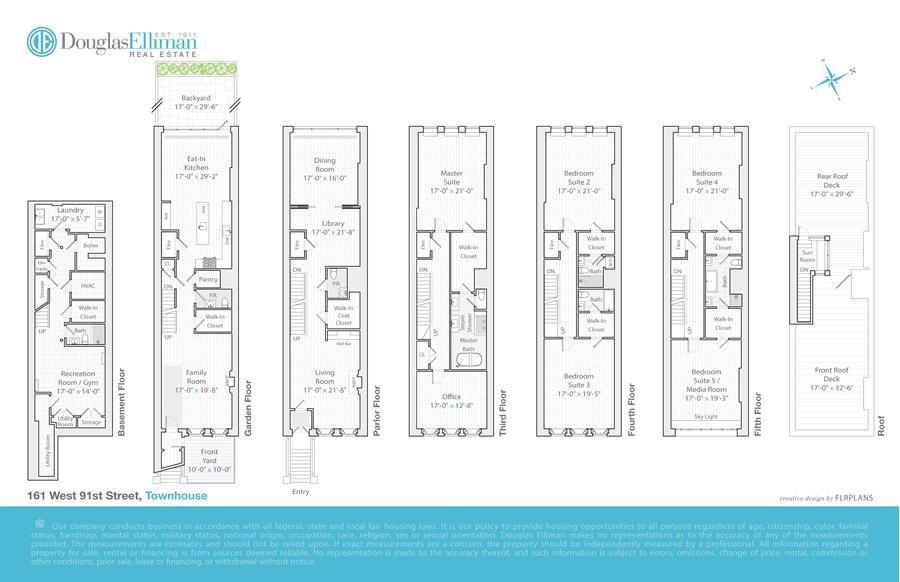 Floor plan of 161 West 91st Street - Upper West Side, New York