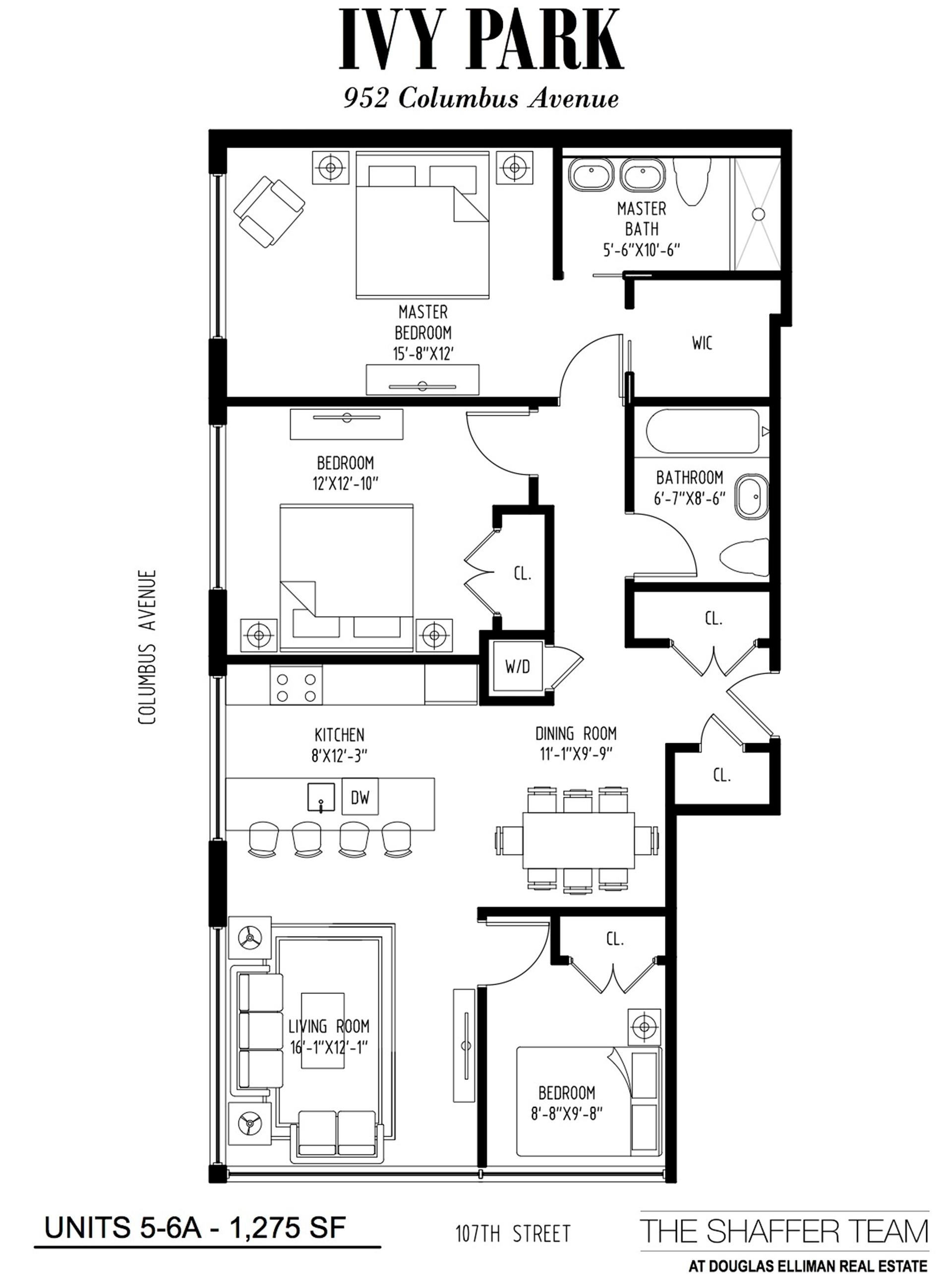 Floor plan of 952 Columbus Avenue, 5A - Upper West Side, New York
