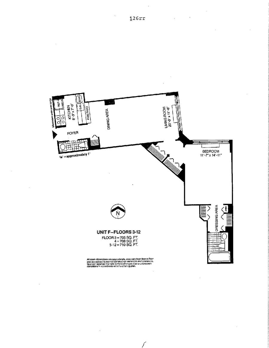 Floor plan of Liberty Residences, 377 Rector Pl, 8F - Battery Park City, New York
