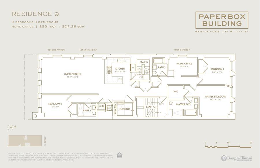 Floor plan of 34 West 17th St, 9 - Flatiron District, New York