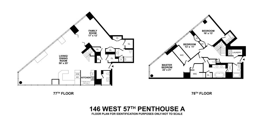 Floor plan of METROPOLITAN TOWER, 146 West 57th Street, PH78A - Midtown, New York