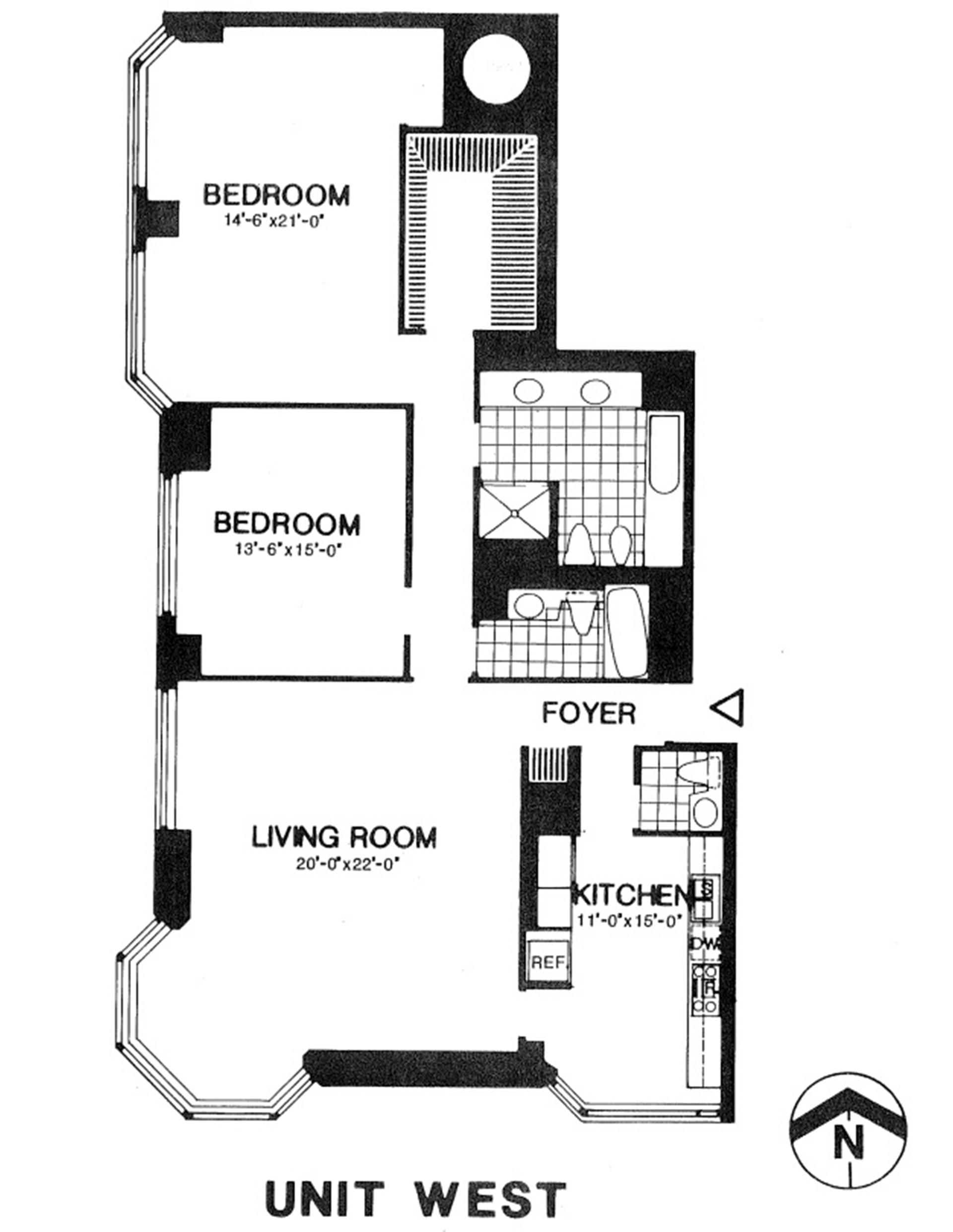 Floor plan of 200 East 65th St, 30W - Upper East Side, New York
