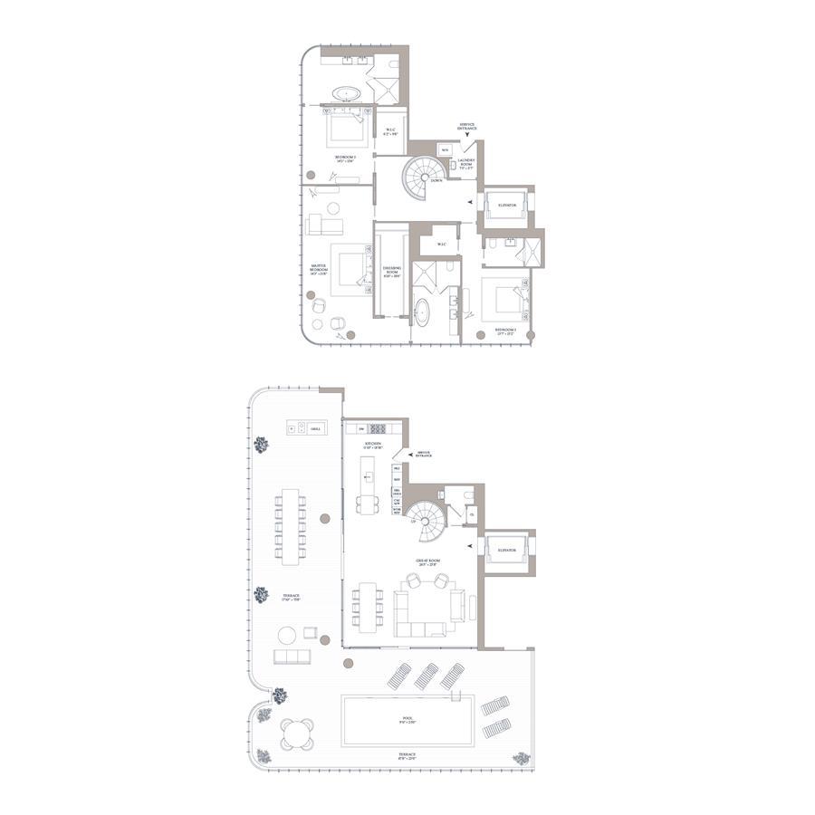 Floor plan of 565 Broome St, S16A - SoHo - Nolita, New York