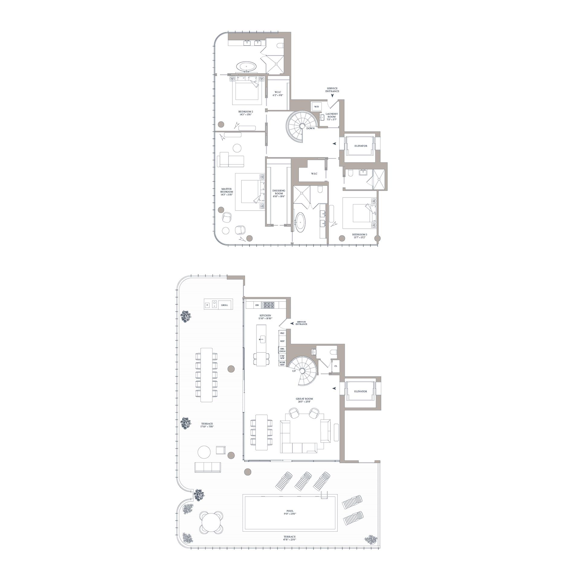Floor plan of 565 Broome St, S16A - SoHo - Nolita, New York