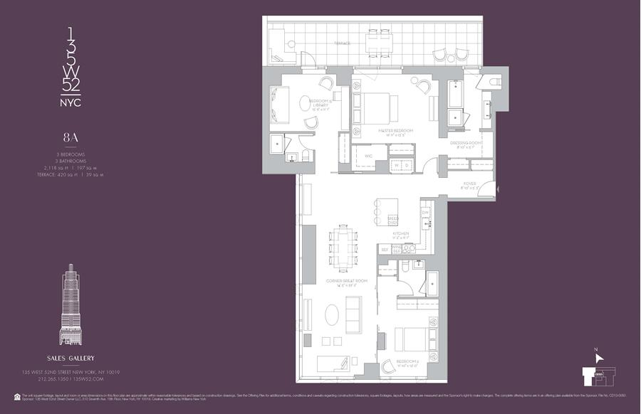 Floor plan of 135 West 52nd Street, 8A - Midtown, New York