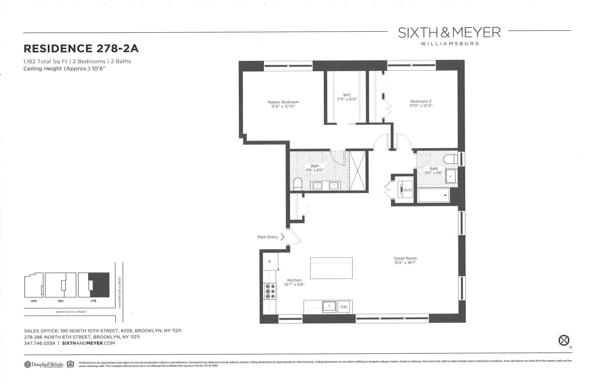 Floor plan of Sixth & Meyer, 278-286 North 6th St, 278/2A - Williamsburg, New York