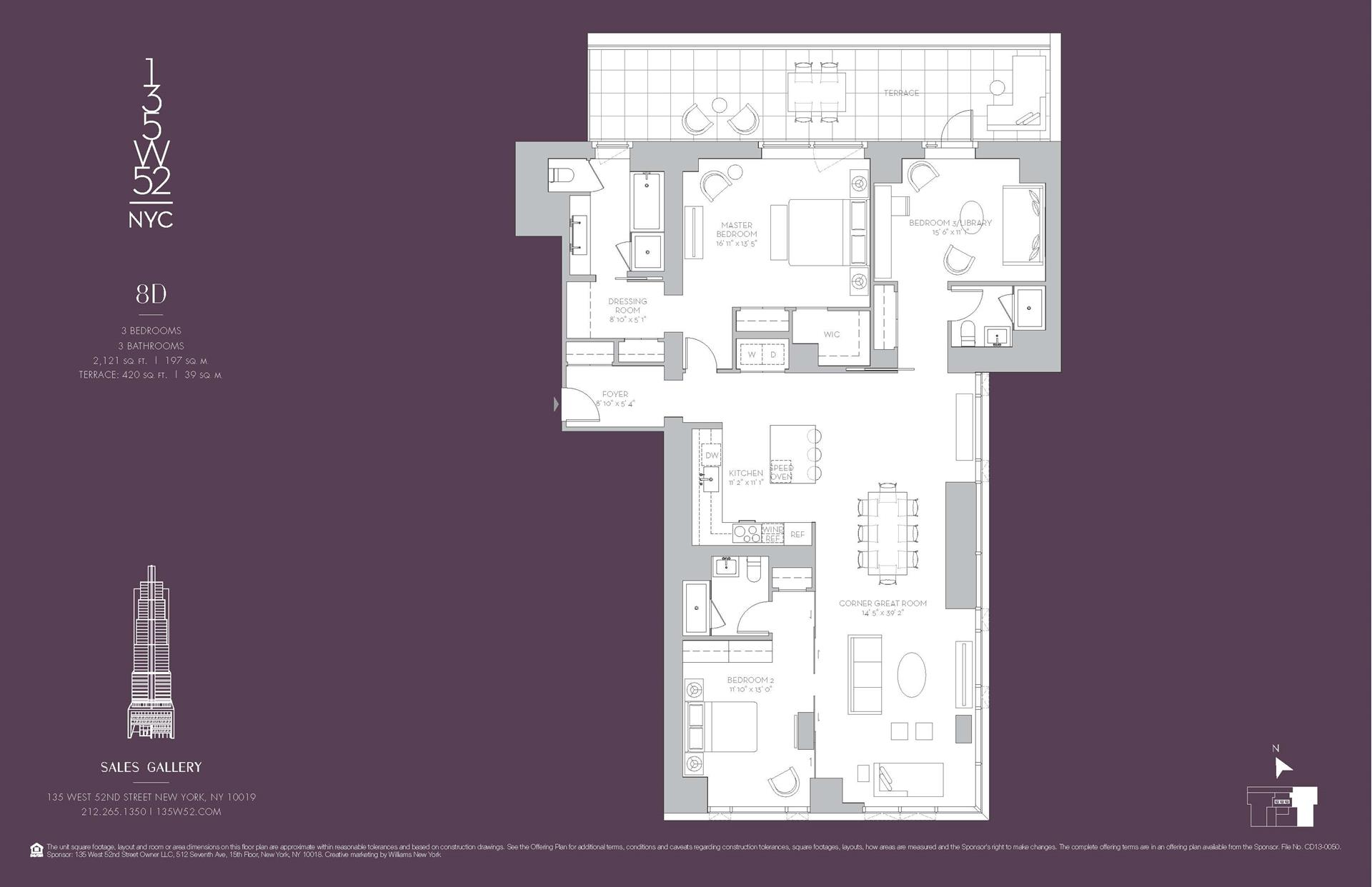 Floor plan of 135 West 52nd St, 8D - Midtown, New York
