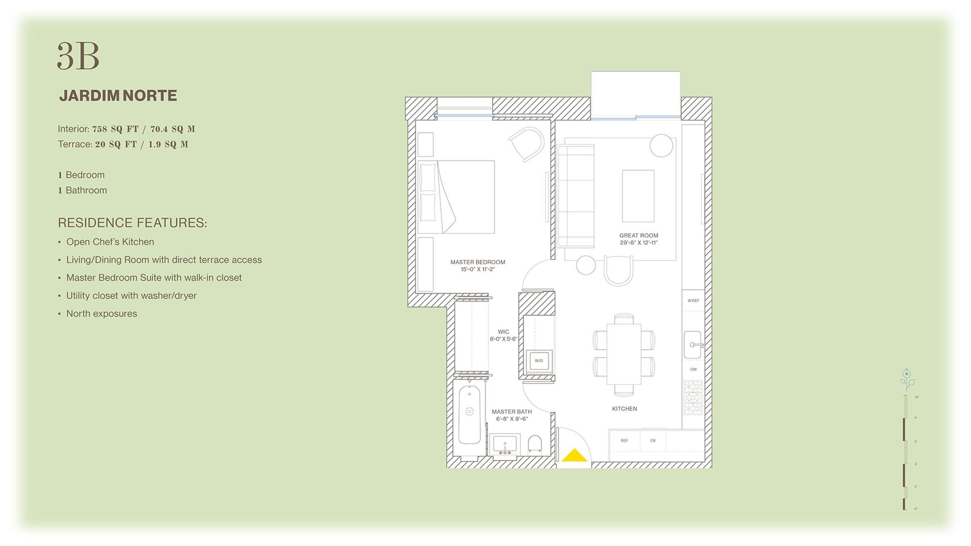 Floor plan of Jardim, 527 West 27th St, 3B - Chelsea, New York