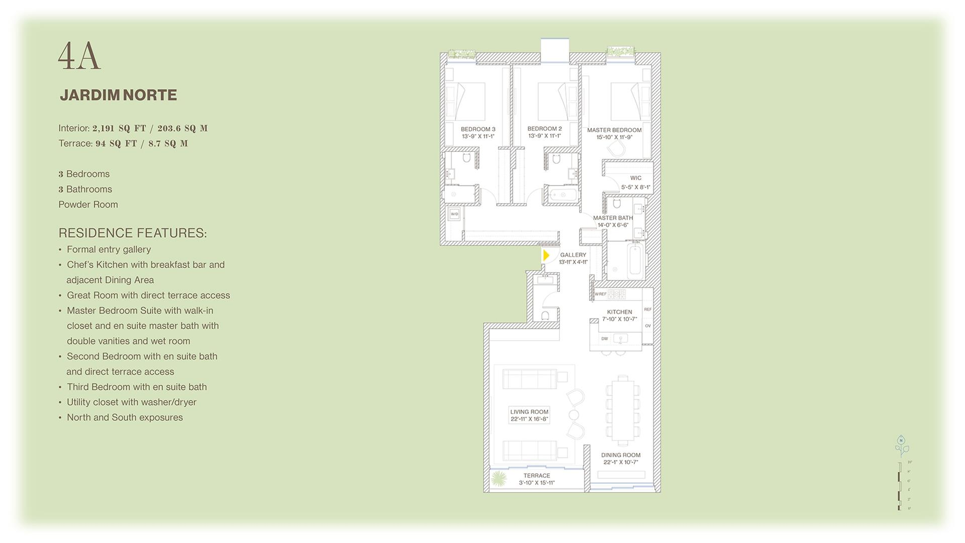 Floor plan of Jardim, 527 West 27th St, 4A - Chelsea, New York