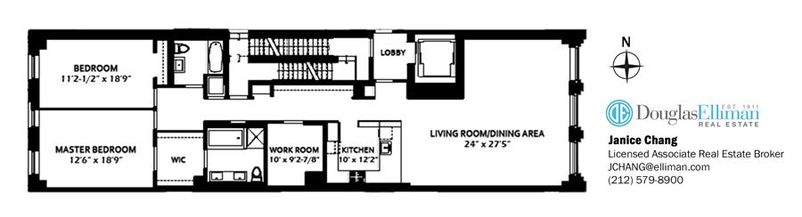 Floor plan of 115 Mercer St, 4B - SoHo - Nolita, New York