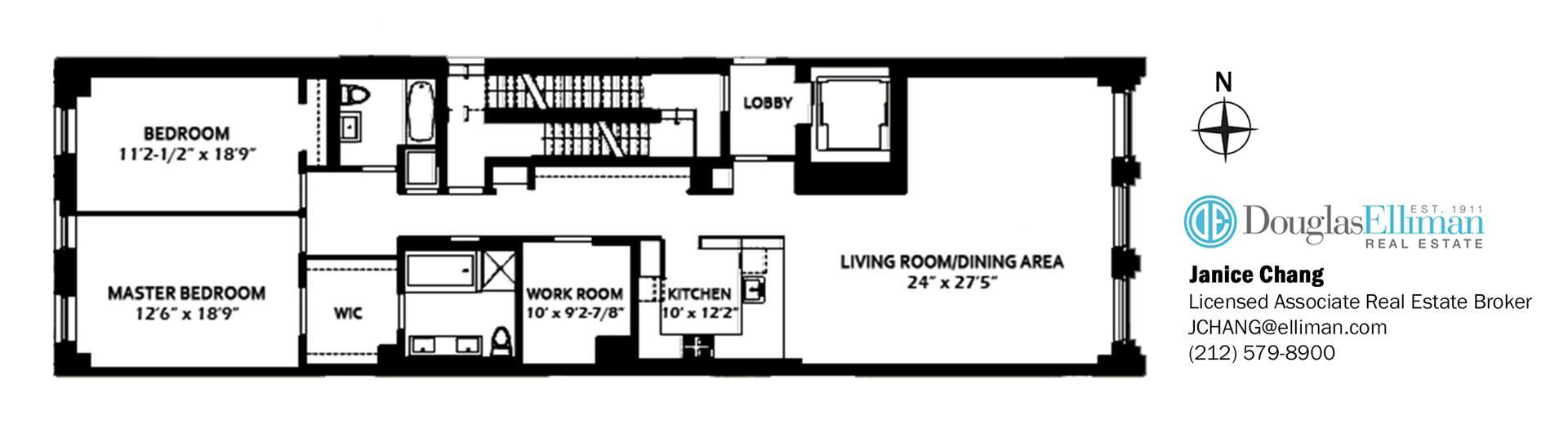 Floor plan of 115 Mercer St, 4B - SoHo - Nolita, New York