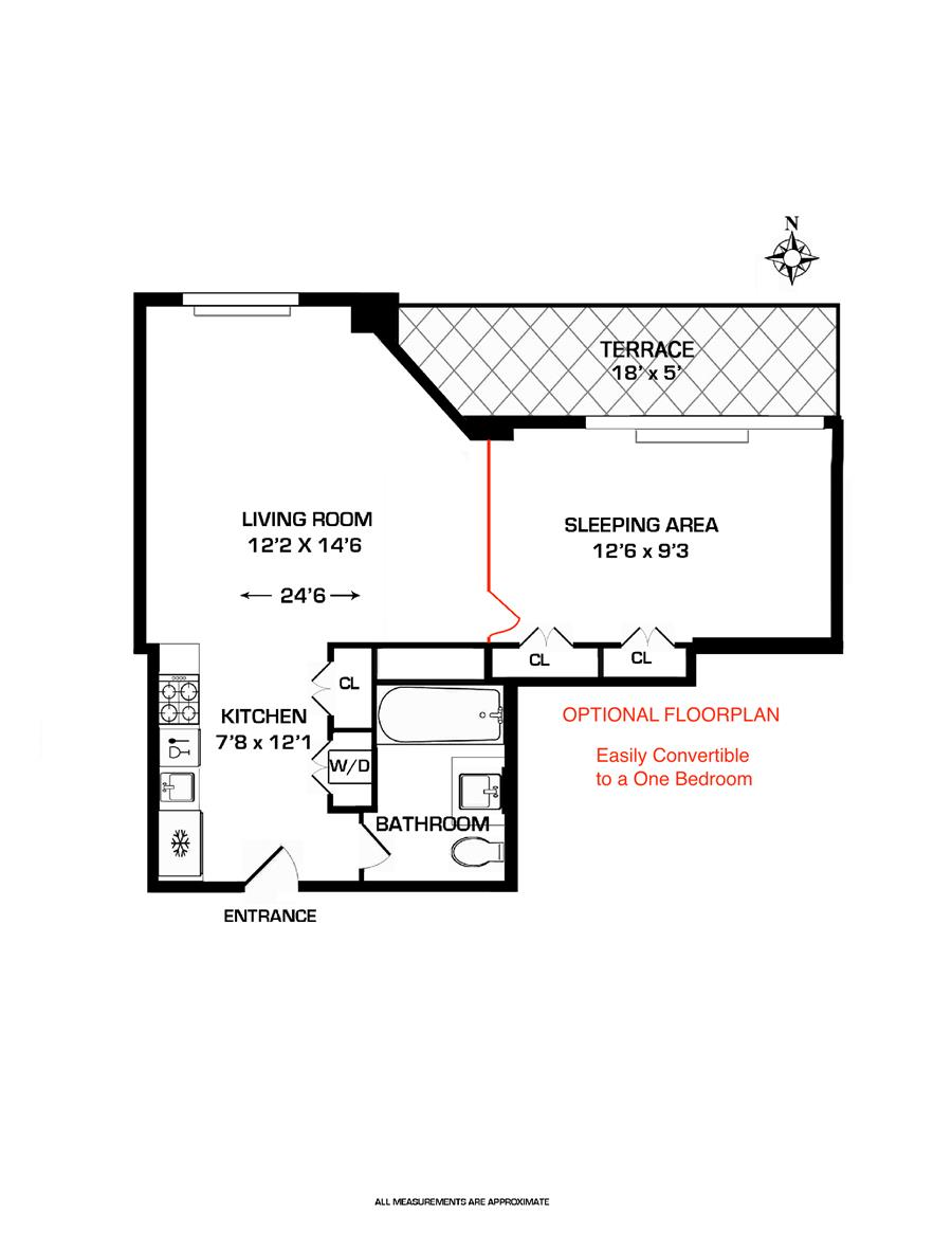 Floor plan of One Rector Park, 333 Rector Pl, PH3W - Battery Park City, New York