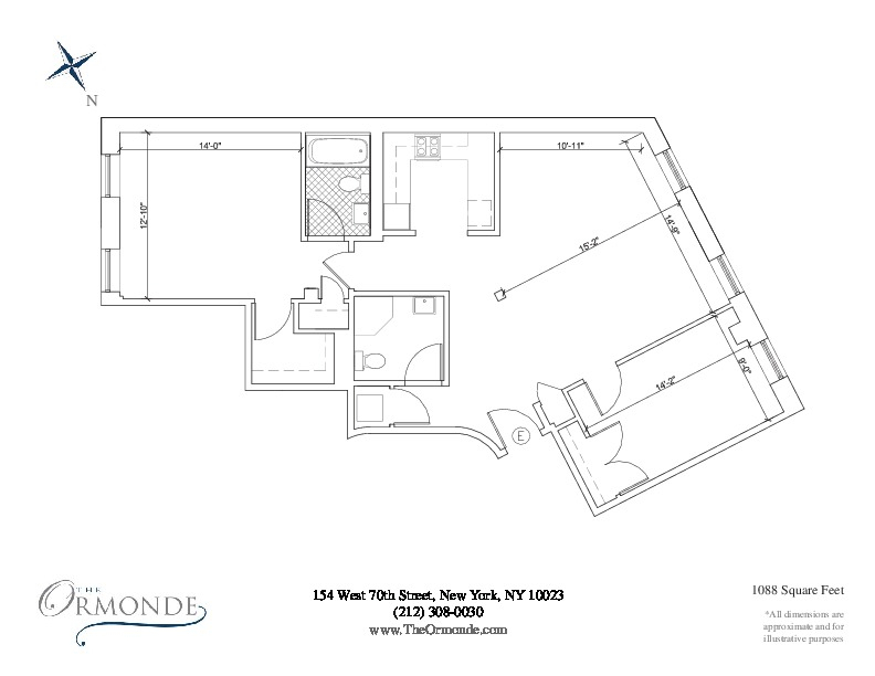 Floor plan of 154 West 70th Street, 6E - Upper West Side, New York