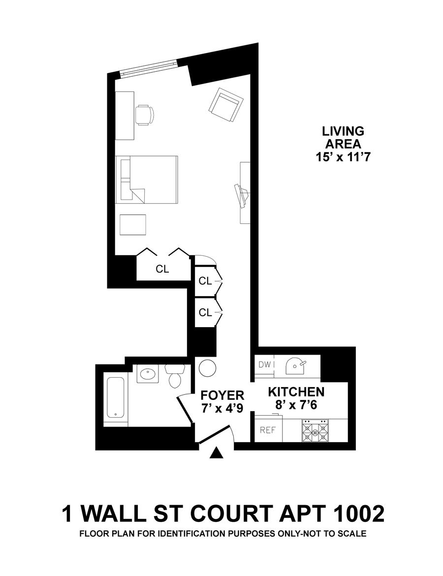 Floor plan of Cocoa Exchange, 1 Wall St Court, 1002 - Financial District, New York