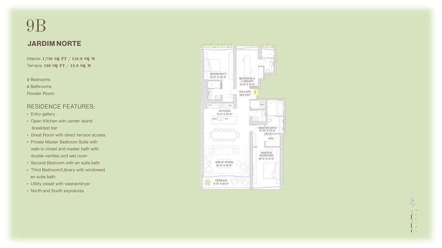 Floor plan of Jardim, 527 West 27th St, 9B - Chelsea, New York