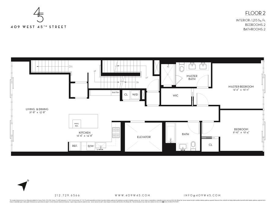 Floor plan of 409 West 45th Street, 2 - Clinton, New York