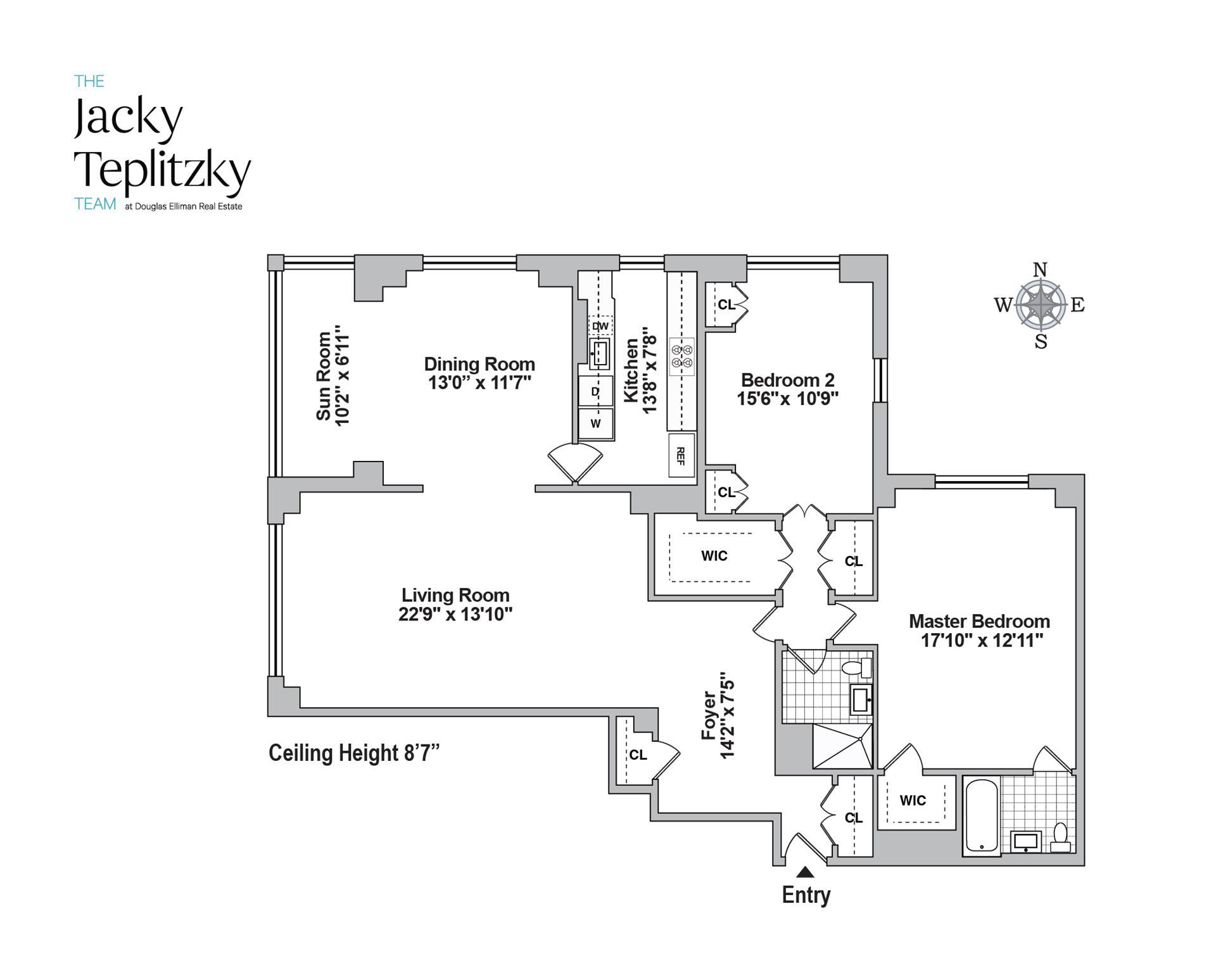 Floor plan of 605 Park Avenue, 10C - Upper East Side, New York
