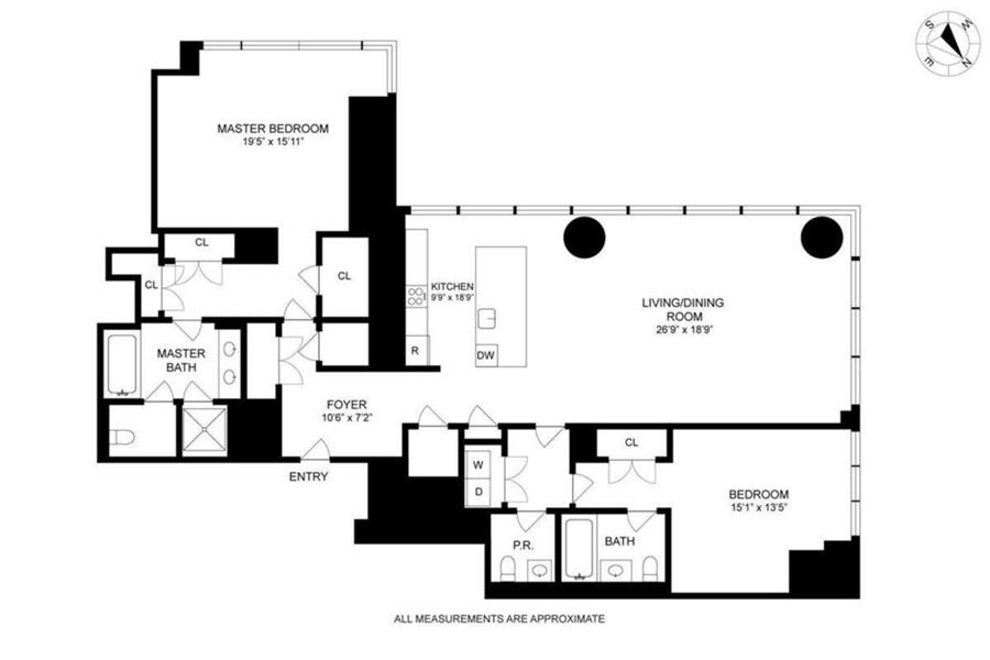 Floor plan of One57, 157 West 57th St, 41B - Central Park South, New York