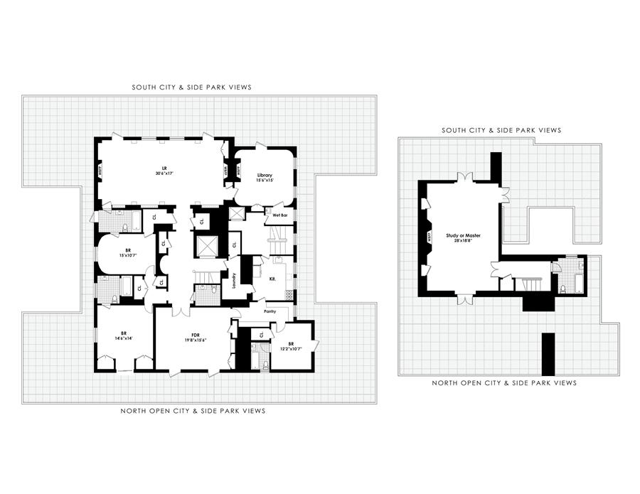 Floor plan of 6 East 72 Street, Corp., 4 East 72nd St, PH - Upper East Side, New York