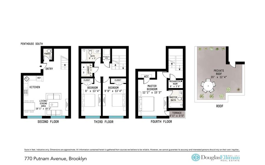 Floor plan of 770 Putnam Avenue, PHSOUTH - Bedford - Stuyvesant, New York