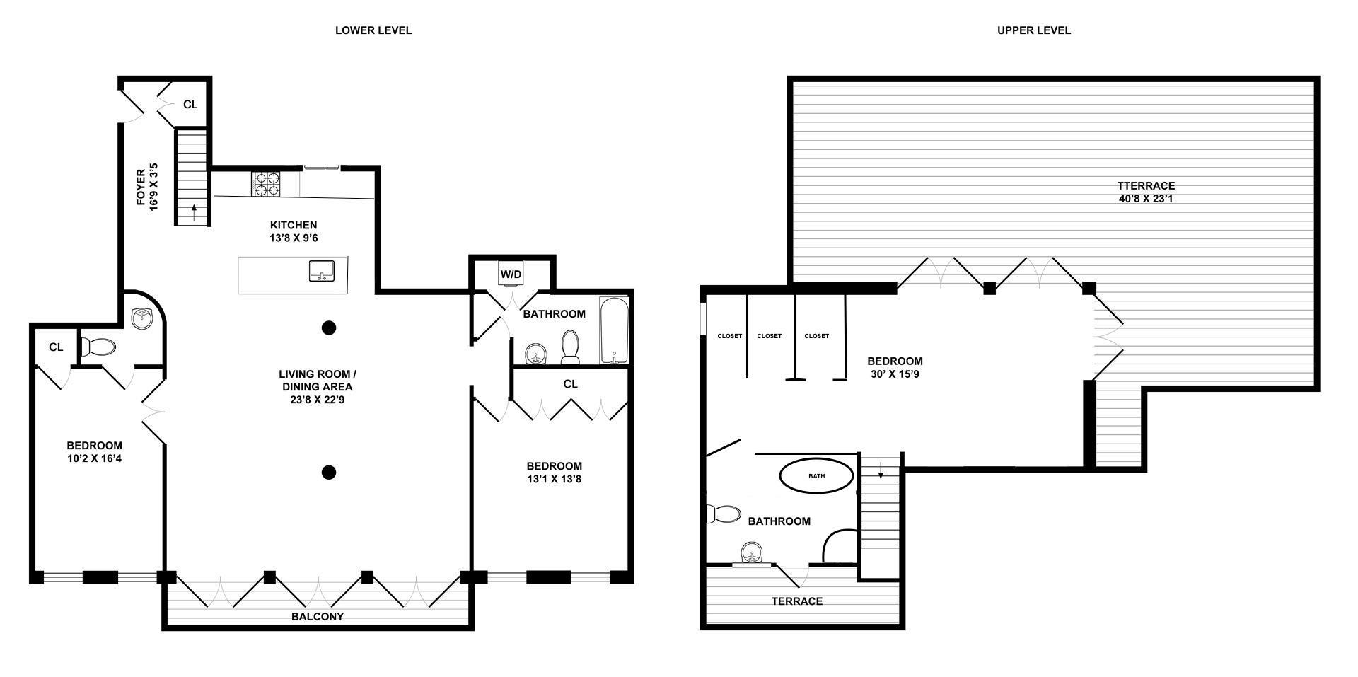 Floor plan of 110 Duane Lofts, 110 Duane St, PH3S - TriBeCa, New York
