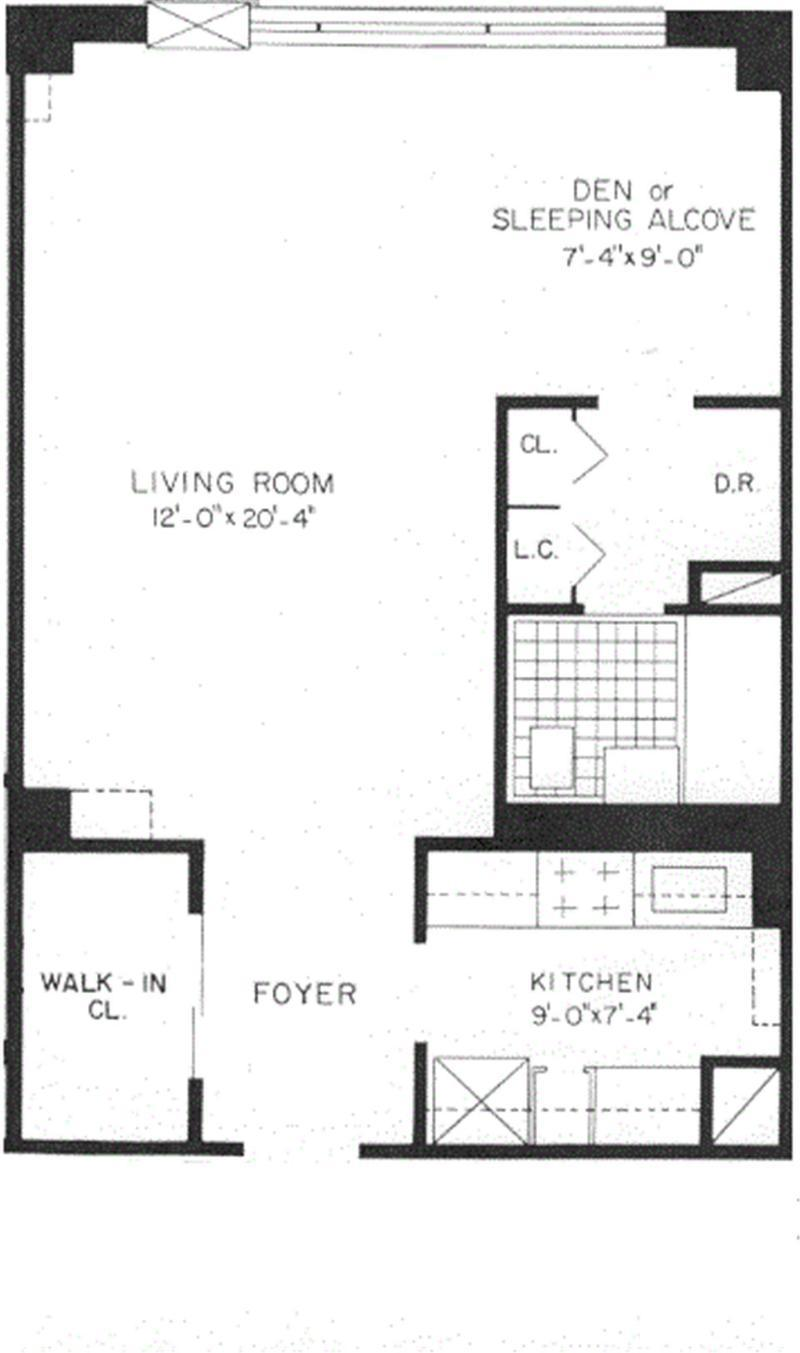 Floor plan of 400 CPW CONDOMINIUM, 400 Central Park West, 19E - Upper West Side, New York