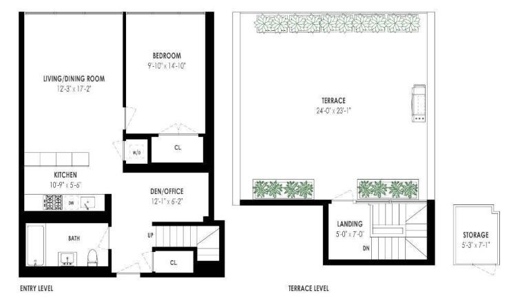 Floor plan of LOFT 25, 420 West 25th Street, PHK - Chelsea, New York