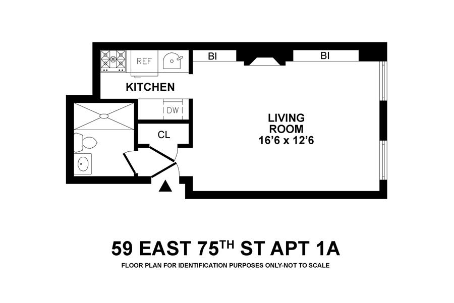 Floor plan of 59 East 75th Street, 1A - Upper East Side, New York