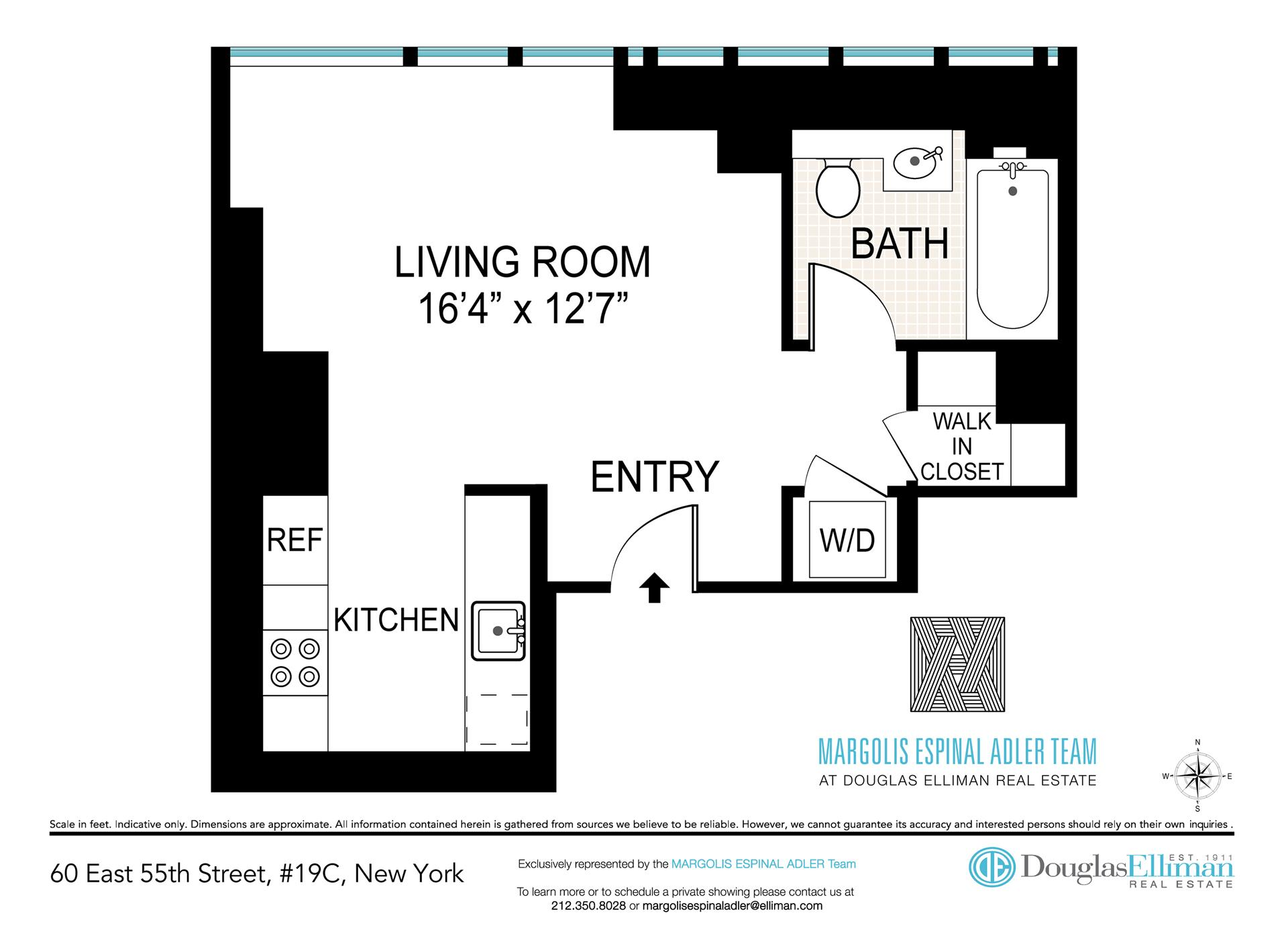 Floor plan of 60 East 55th St, 19C - Midtown, New York