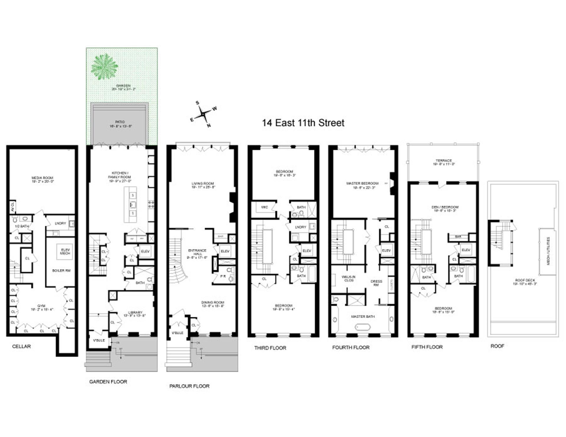Floor plan of 14 East 11th St - Greenwich Village, New York