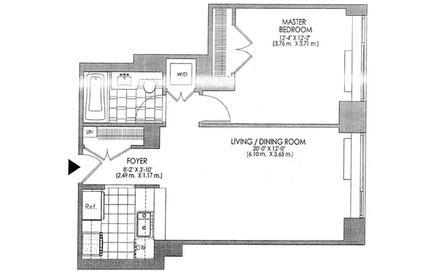 Floor plan of 120 Trump Place, 120 Riverside Boulevard, 8V - Upper West Side, New York
